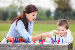 Family chess Royalty Free Stock Photography