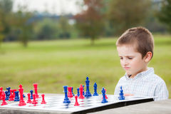 Family chess Royalty Free Stock Images
