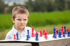 Family chess Stock Photo