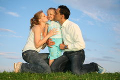 Family with child Stock Image