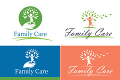 Family child care. Family care logo vector design. Child Care and Medical Services. Child freedom and active lifestyle Stock Photo