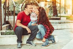 Family with child royalty free stock photo