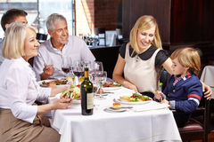 Family with child and grandparents Stock Photography