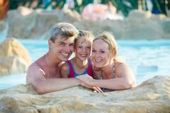 Family with child at holiday vacation Stock Photography