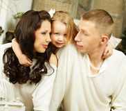 Family - child and loving parents Royalty Free Stock Photos