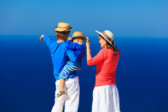 Family with child on sea vacation Stock Images