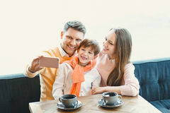 Family with a child Stock Photography