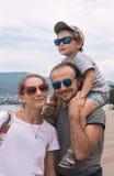 Family, child, vacation, resort Royalty Free Stock Photos