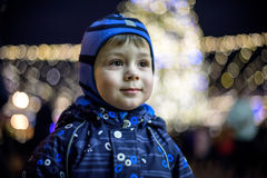 Family, childhood, season and people concept - happy in winter c Stock Photo