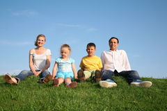Family with children Royalty Free Stock Photography