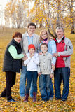 Family with children in autumn park Stock Photography