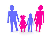 Family with children. Royalty Free Stock Image