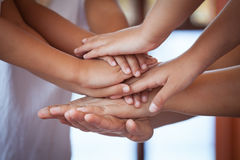 Family and children holding hands Royalty Free Stock Image
