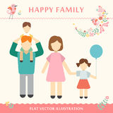 Family with children kids people concept flat. Icons set of parenting, time spending and being a grandmother happy family concept Vector illustration Royalty Free Stock Image