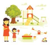 Family-Children-Playground Royalty Free Stock Photo