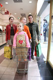 Family with children in shop2 Stock Photography