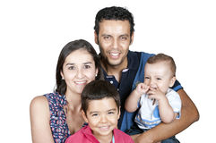 Family with childrens Royalty Free Stock Photography
