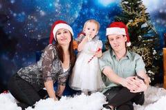 Family on christmas Royalty Free Stock Image