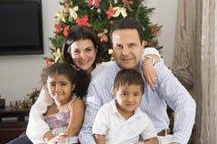 Family at christmas Royalty Free Stock Photo
