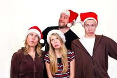 Family christmas royalty free stock photography