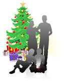 A family Christmas Stock Image