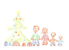 Family for christmas Royalty Free Stock Photo