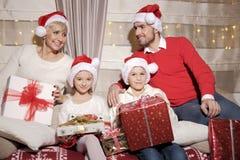 Family at Christmas Stock Photos