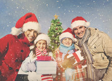 Family Christmas Celebration Vacation Happiness Concept Stock Images