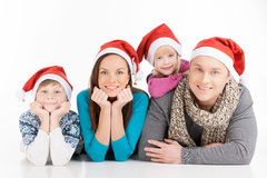 Family on Christmas. Stock Photography