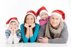Family on Christmas. Stock Photography