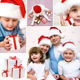 Family Christmas collage Royalty Free Stock Photography