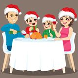 Family Christmas Dinner royalty free illustration