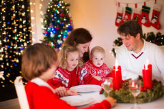 Family at Christmas dinner at home Stock Photos