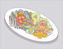 Christmas food in Italy vector illustration