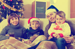 Family at Christmas Royalty Free Stock Photo