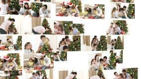 Family Christmas fun Stock Photo