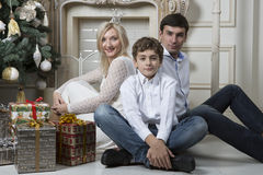 Family Christmas Stock Image