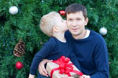 Family at christmas Stock Photography