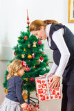 Family Christmas Moments Royalty Free Stock Photography