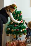 Family Christmas Moments Stock Photo