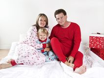 Family on Christmas morning Royalty Free Stock Photo
