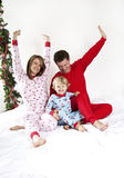 Family Christmas morning Stock Photography