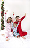 Family Christmas morning Stock Photo