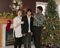 Family Christmas Tease Royalty Free Stock Photography