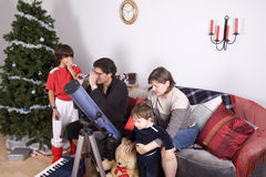 Family christmas time Royalty Free Stock Images