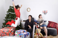 Family christmas time Royalty Free Stock Photo