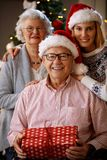 Family in Christmas time. Nice family together at home in Christmas time Royalty Free Stock Images