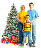 Family and a Christmas Tree Royalty Free Stock Photos
