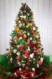 The family Christmas tree Royalty Free Stock Images