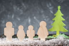 Family and Christmas tree. Christmas concept royalty free stock photos